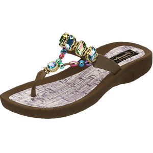 Grandco Sandals Colored Curve 27472 - Brown Sole