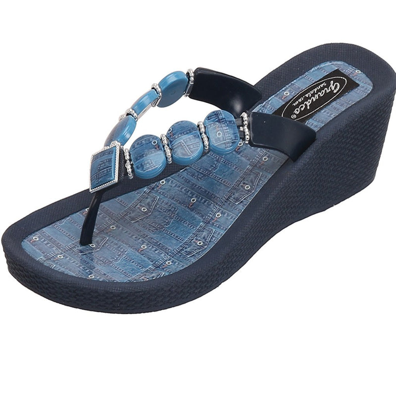 Grandco Sandals Denim Wedge 27360D