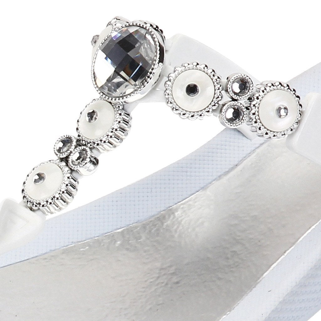 Grandco Sandals 27453 - Round Pearl Wedge Close Up