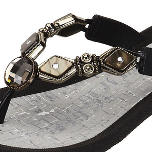 Grandco Sandals - Colored Diamond Pearl 27460 - Black Close Up