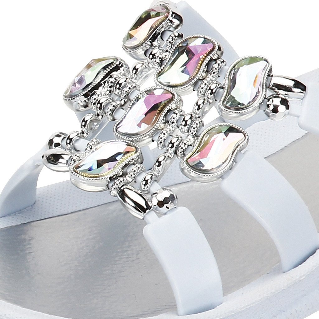 Grandco Sandals Curve Slide 27496 - Close up White