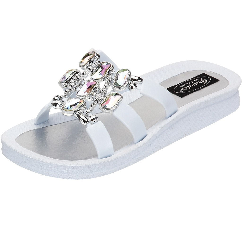 Grandco Sandals Curve Slide 27496 - White Sole