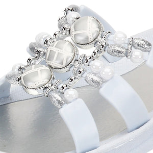 Grandco Sandals Cayman Slide 27514 - Close Up White