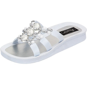 Grandco Sandals Cayman Slide 27514 - White