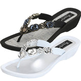 Grandco Sandals - Lunar 27685 in Black and White
