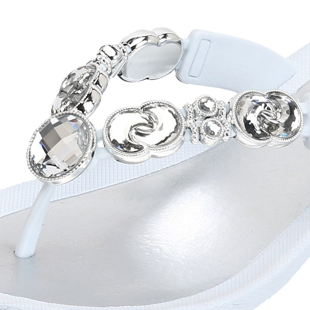 Grandco Sandals - Lunar 27685 close up of White