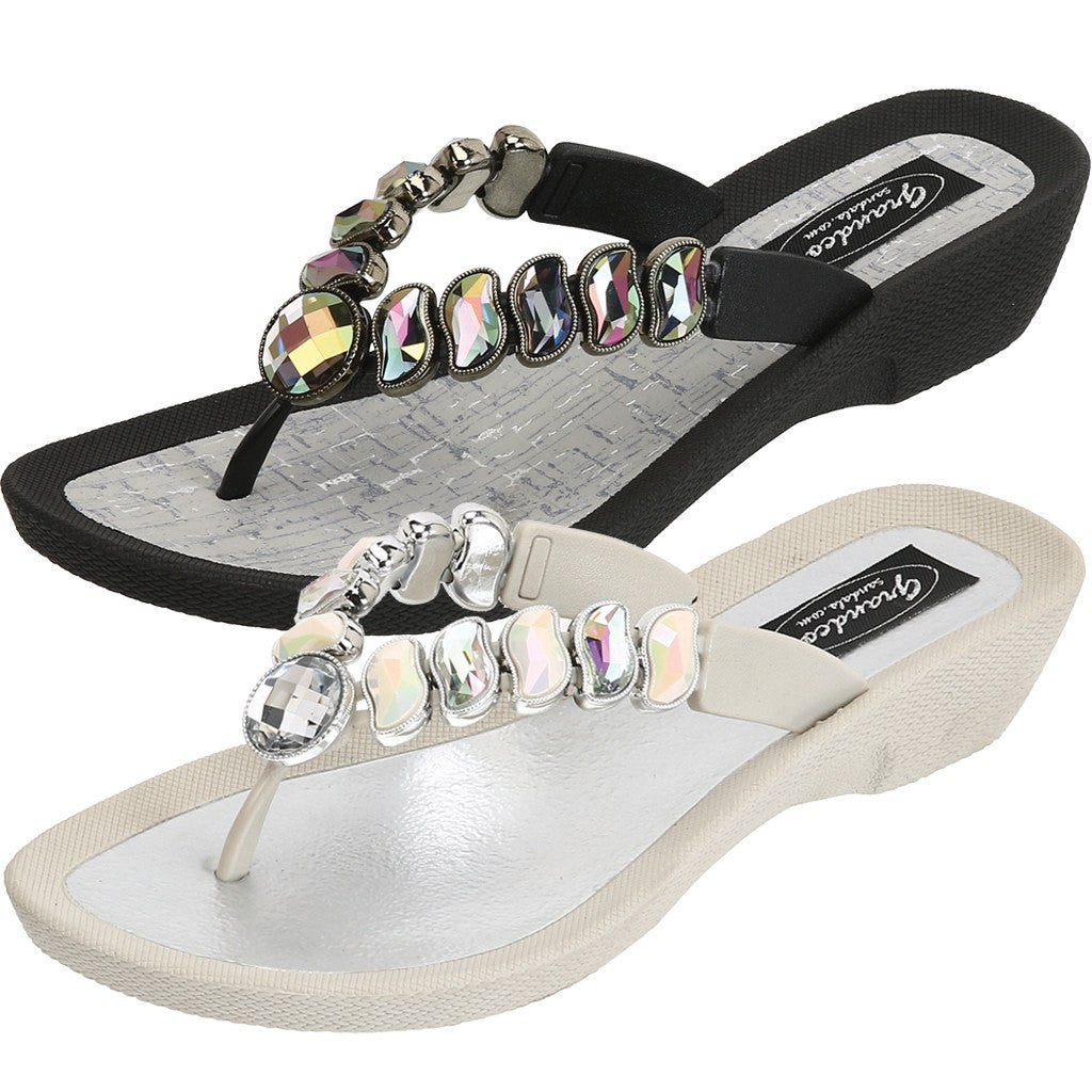 Grandco Sandals - Wave 27712 Jeweled Sandals