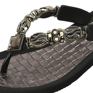 Grandco Sandals Faberge 27902 in Black Close Up