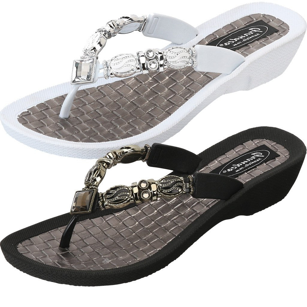 Grandco Sandals Faberge 27902 in Black and White