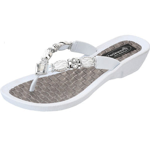 Grandco Sandals Faberge 27902 in White