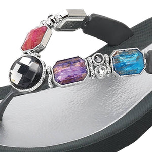 Grandco Sandals - Spirit 27927 in Gray, Close up of Jeweled Sandals
