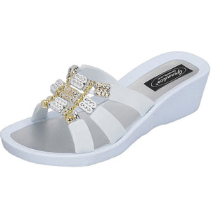 grandco sandals - aries wedge 27985 white sole