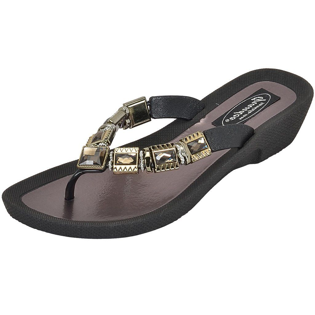 2920cfc92bcb Grandco Sandals - Celeste V 27991E Black Jeweled Sandals