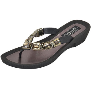 Grandco Sandals - Celeste V 27991E Black Jeweled Sandals