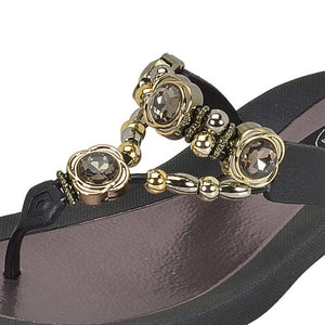 Grandco Sandals - Orion 28025 Black Close Up