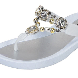 Grandco Sandals - Orion 28025 White Close Up