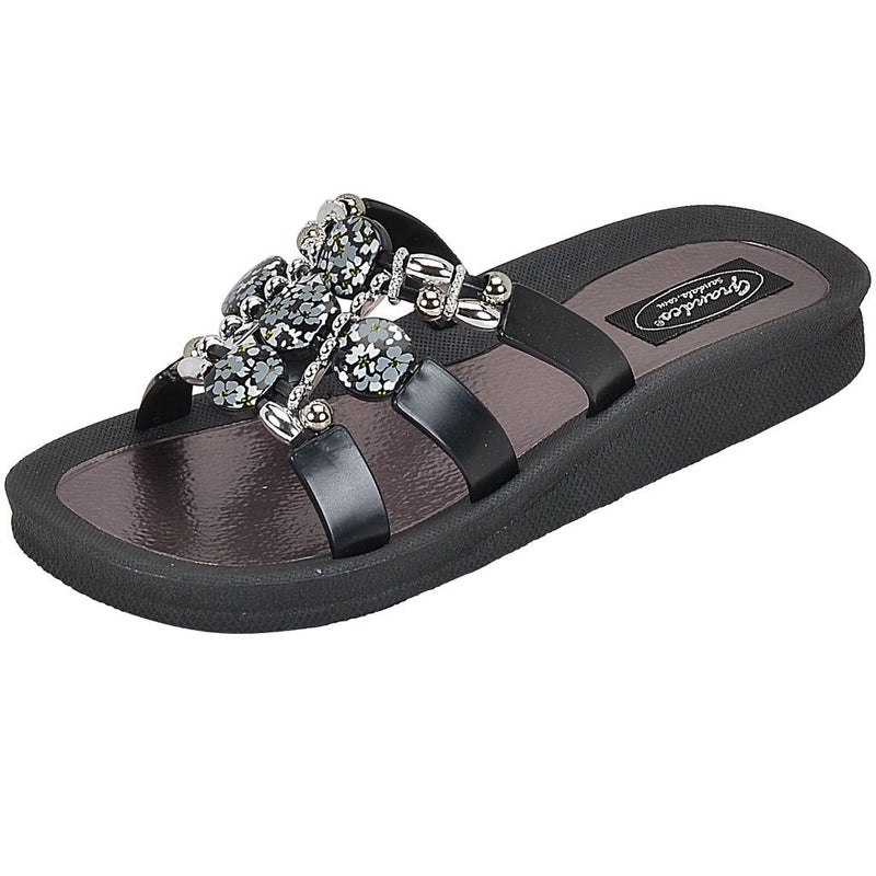Grandco Sandals - Hibiscus Slide 28106