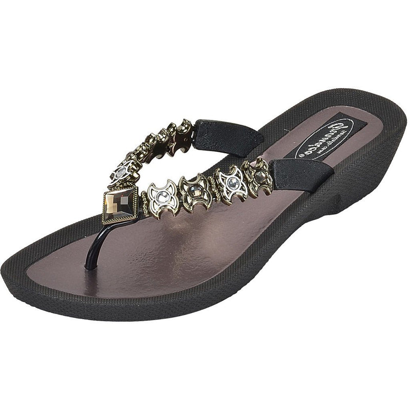 Grandco Sandals - Starz 28215 black close up
