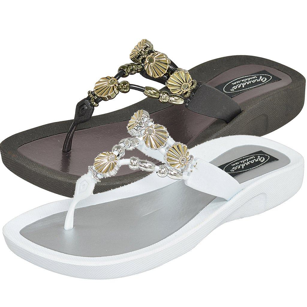 Grandco Sandals Sea Shell 28259 - Black & White