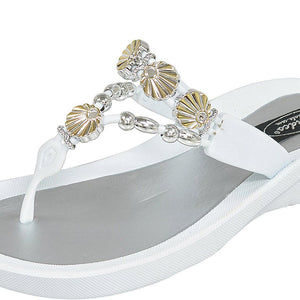 Grandco Sandals Sea Shell 28259 - White Close Up