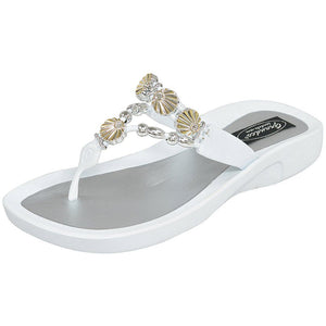 Grandco Sandals Sea Shell 28259 - White Sole Sandals