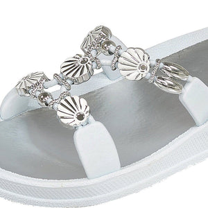Grandco Sandals 28262 - Close Up White Slide Sandals