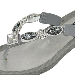 Grandco Sandals - Royal V Grey Close Up