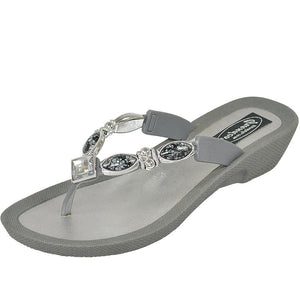 Grandco Sandals - Royal V Grey