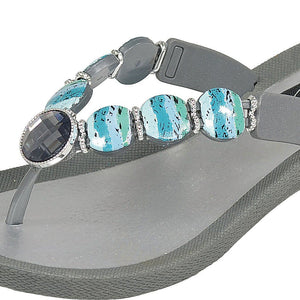 Grandco Sandals 28437 Island V - Grey Close Up