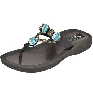 Grandco Sandals - Island Breeze Thong 28438 Black