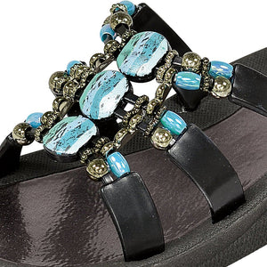 Grandco Sandals 28444 - Slide sandals in Close up black