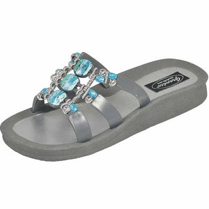 Grandco Sandals 28444 - Slide sandals in grey