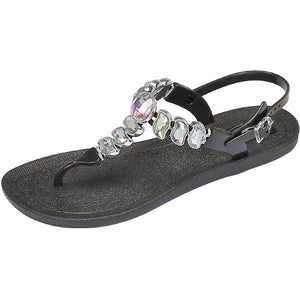 Grandco Sandals 28525 - Wave T-Strap - Black
