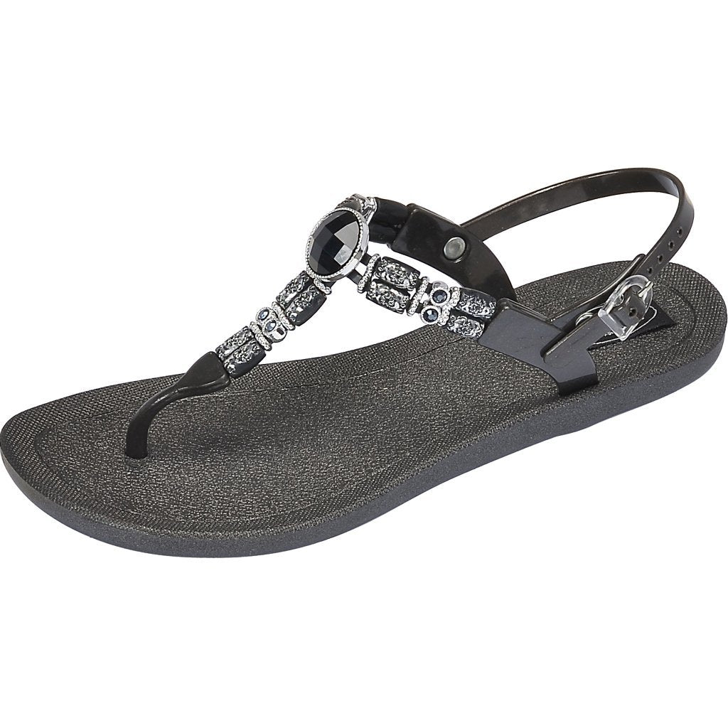 Grandco Sandals Moonlight T-Strap - 28603 Black