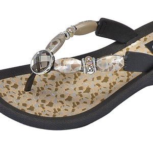 Grandco Sandals - Coastal V Black Close up