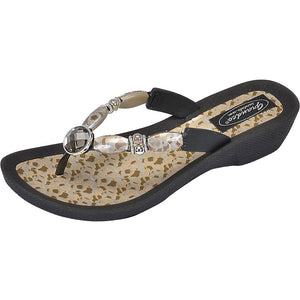 Grandco Sandals - Coastal V Black