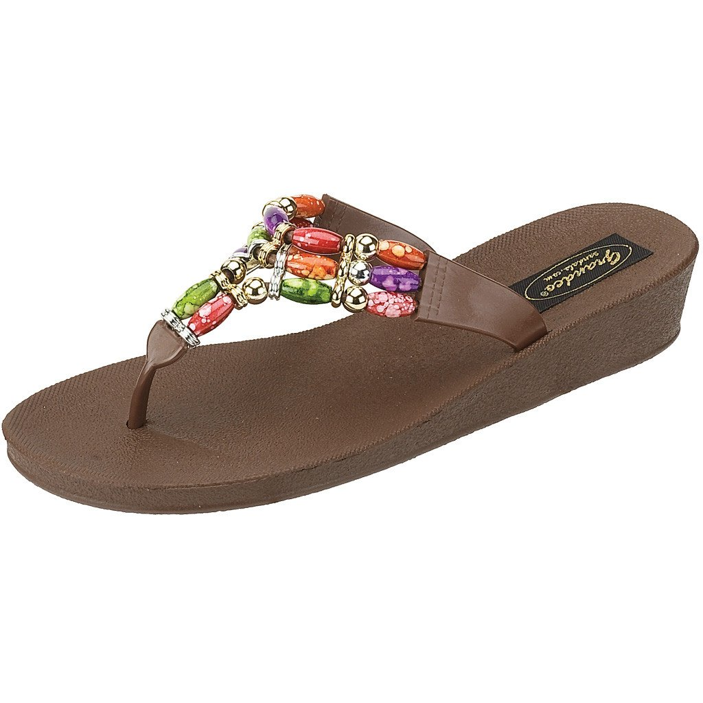 Grandco Sandals Triple Vase 9453 - Brown Sole