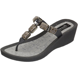Grandco Sandals 27451 - Cayman Wedge Gray