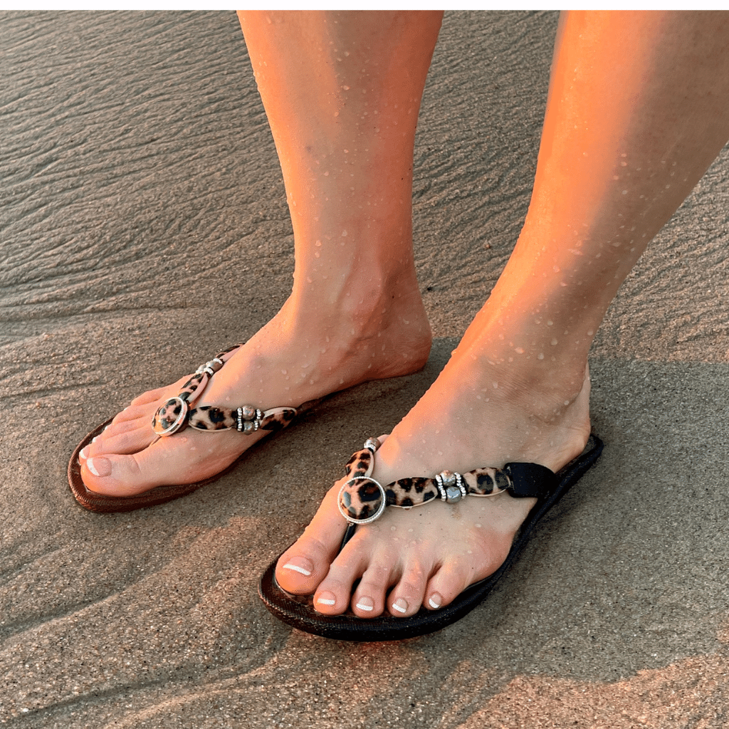 Grandco Sandals - Leopard Print Style 28636, With A black or brown 1' Sole