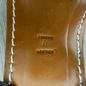 Genuine Leather Label on Handmade Leather Beaded Sandals for Women