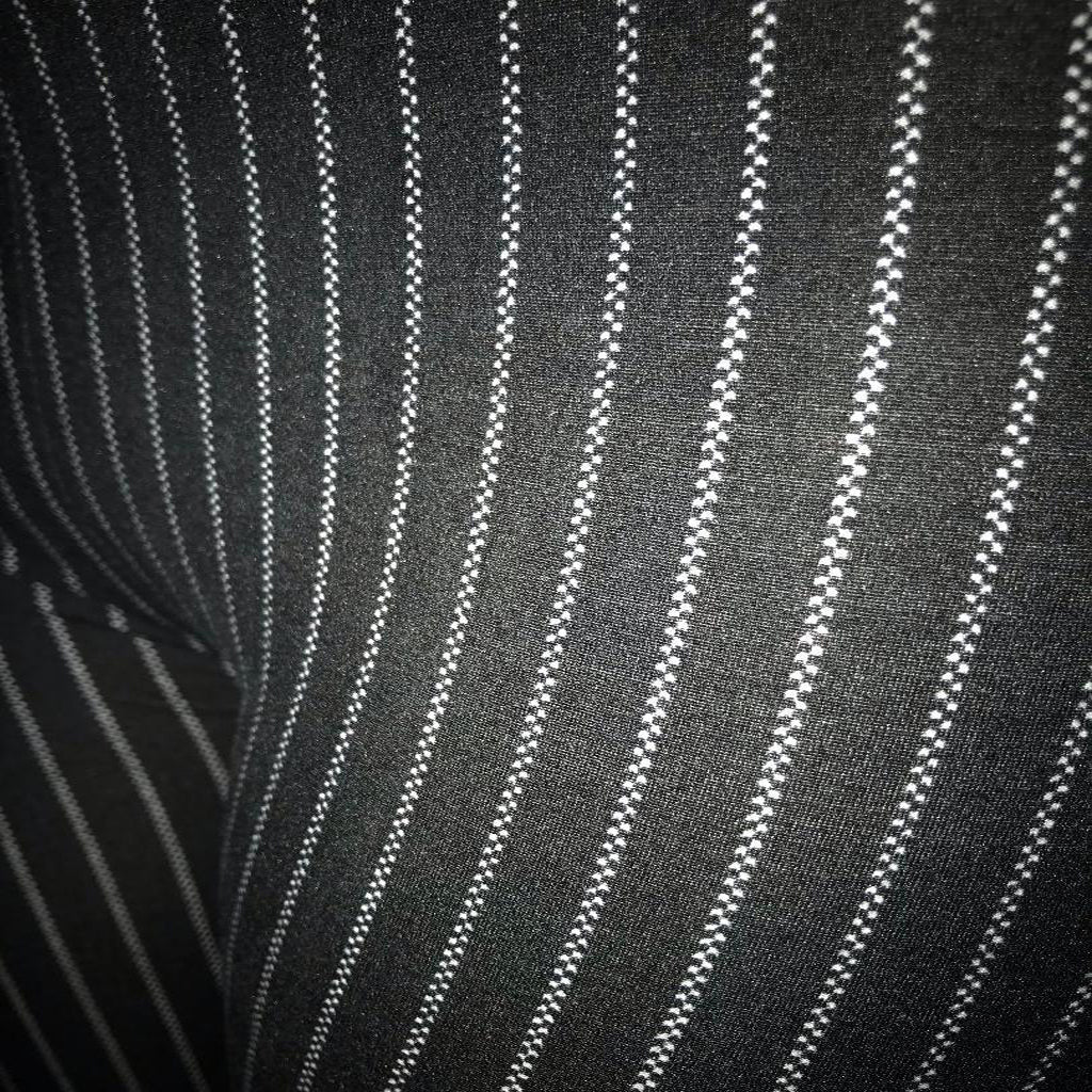 These are a black pinstripe leggings for women