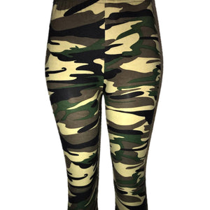 Ladies Leggings In a soft stretch fabric in a camp design