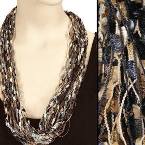magnetic Confetti Scarf - Black & Gold