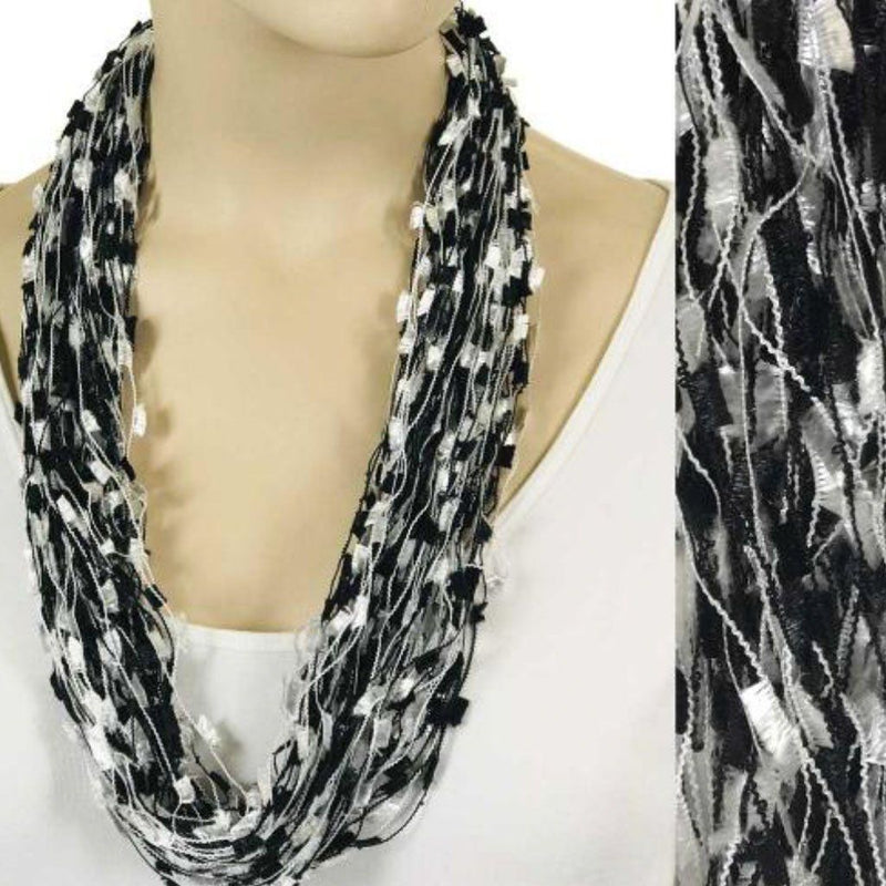 Magnetic Confetti Scarf - Black & White