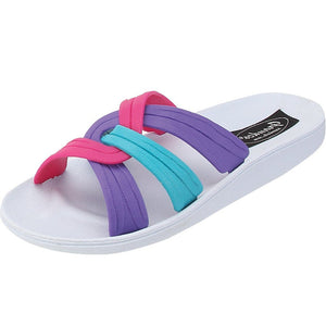 Grandco Sandals - BT 6091,  White Slide Sandals