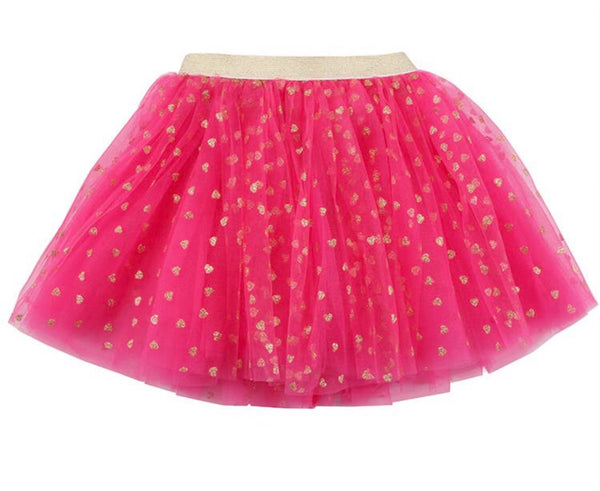 Hot Pink Gold Heart Tutu