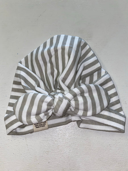 Grey Stripped Turban