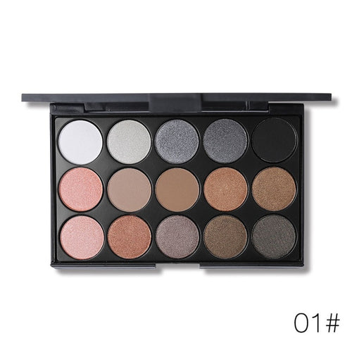 15Colors Matte Eyeshadow Palette Nude Smoky