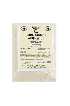 Adluh Stone Ground White Grits (1 lb)