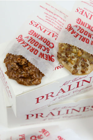 New Orleans School of Cooking All-Natural Chocolate and Original Pralines (2 Boxes of 12)